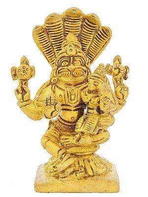 Lord Narasimha with Goddess Lakshmi
