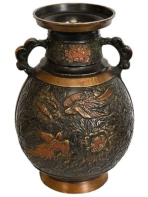 Heavy Vase Decorated with Persian Imagery