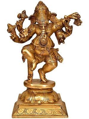 Six Armed Dancing Ganesha