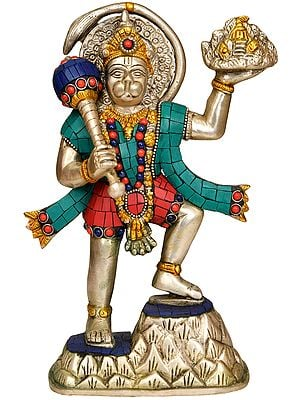 Lord Hanuman Carrying Mount Dron of Sanjeevani Herbs
