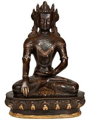 Crown Buddha in Bhumisparsha Mudra