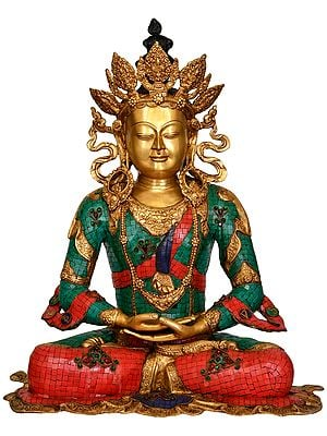 Large Size Crown Buddha -Tibetan Buddhist Deity