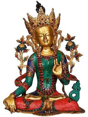 Tibetan Buddhist Goddess White Tara (Large Size)