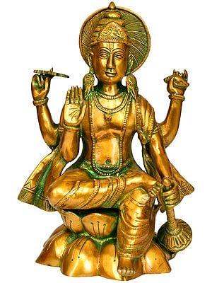Lord Vishnu Seated on Lotus