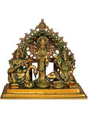 Three Auspicious Deities -Saraswati Lakshmi and Ganesha