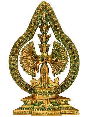Eleven Headed Thousand Armed Avalokiteshvara (Tibetan Buddhist Deity)