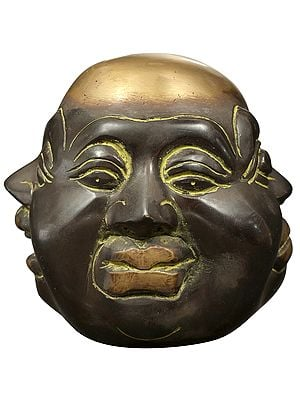 Four Faced Head of Laughing Buddha