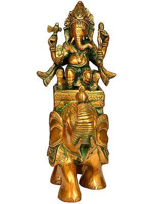 Lord Ganesha on An Elephant