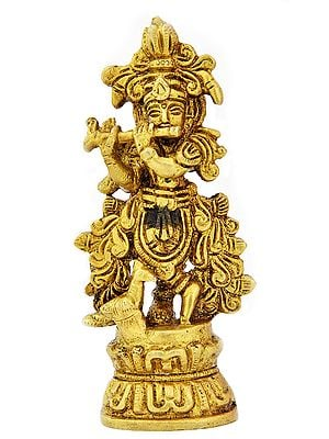 Shri Krishna Playing on Flute (Small Statue)