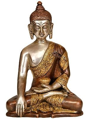 Tibetan Buddhist Lord Buddha in Bhumisparsha Mudra
