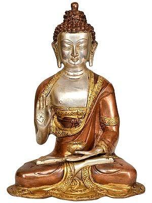 Lord Buddha in Preaching Mudra -Tibetan Buddhist Deity