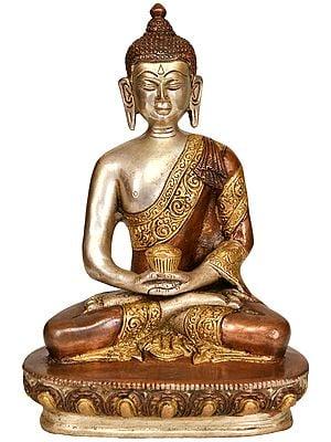 Meditating Lord Buddha with Pindapatra -Tibetan Buddhist