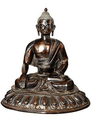 Tibetan Buddhist Deity Lord Buddha in Bhumi Sparsha Mudra