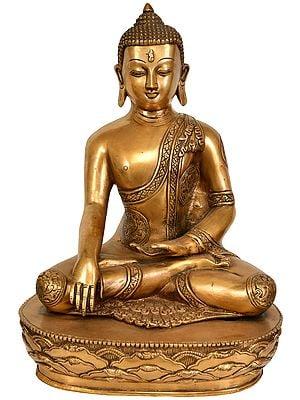 Tibetan Buddhist Deity Lord Buddha in Mara-Vijay Mudra