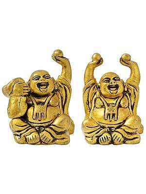 Laughing Buddha (Set of Two Statues)
