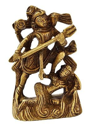 Lord Shiva Killing Andhakasura (Small Statue)