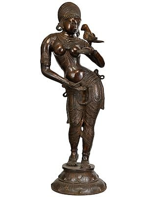 Large Size Apsara with the Parrot