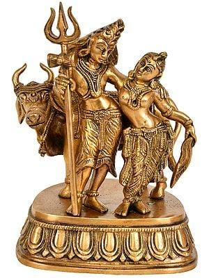 Lord Shiva and Parvati with Nandi