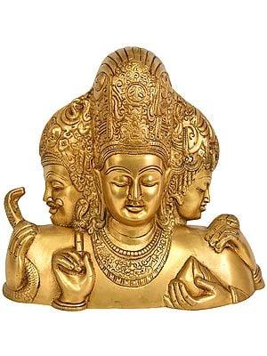 Trimurti from Elephanta (Brahma, Vishnu and Mahesha)