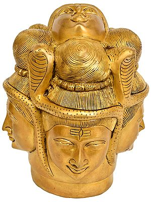 Cosmic Mukha Lingam (With Five Faces)
