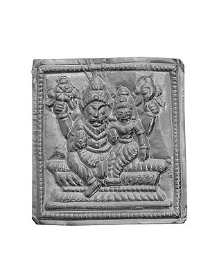 Lord Narasimha with Goddess Lakshmi (Pratima for Worship)