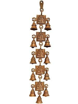Radha Krishna Wall Hanging Bells