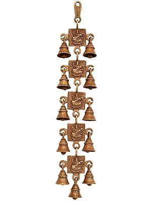 Goddess Saraswati Wall Hanging Bells
