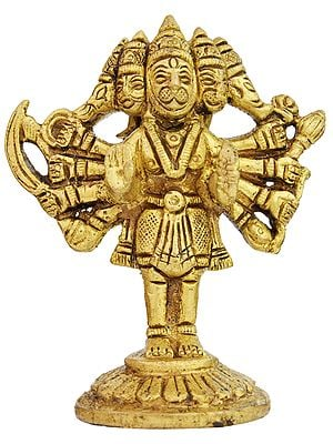 Five Headed Standing Hanuman