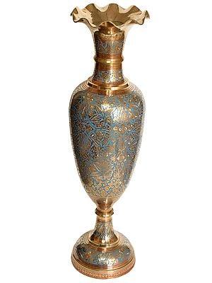 Decorated Vase with Enamel Work