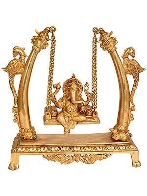 Lord Ganesha on a Swing