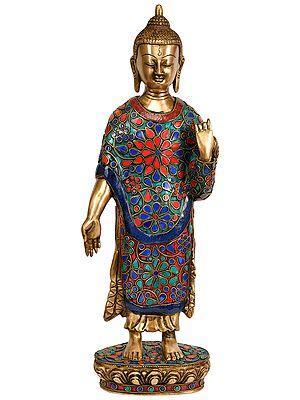 Standing Buddha in Varada Mudra