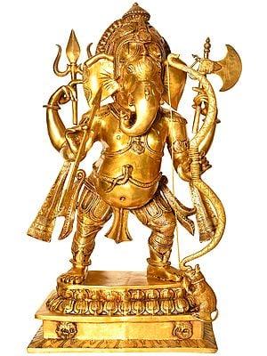 Large Size Divyastranam Prayogvid Ganesha