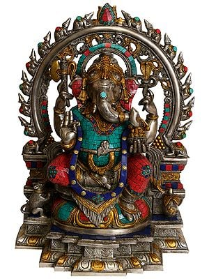 Ganesha with Aureole Made of Rats