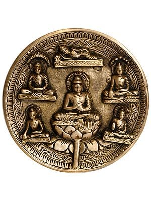 Lord Buddha Wall Hanging Plate