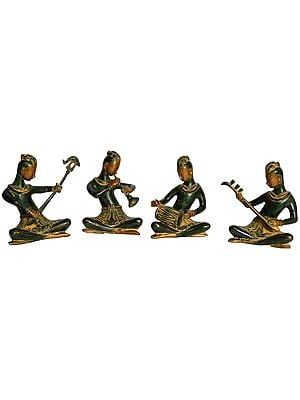 Musician Ladies (Set of Four Statues)