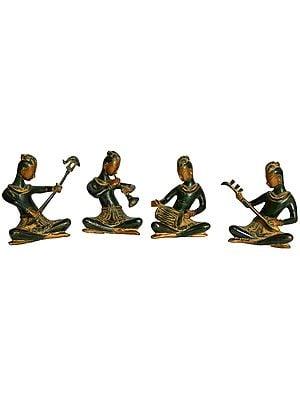 Musician Ladies (Set of Four Statues)