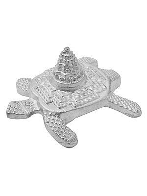 Shri Yantra on Tortoise Carved in Parad