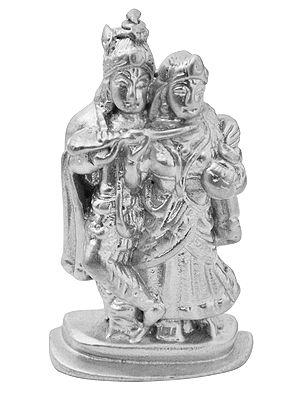 Radha Krishna (Carved in Parad)