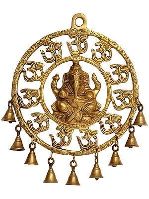 OM (AUM) Ganesha Wall Hanging with Bells