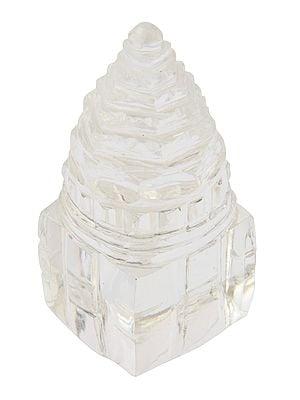 Shri Yantra Carved in Real Crystal