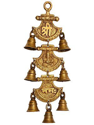 Shri Ganeshai Namha Wall Hanging Bells