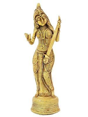 Goddess Saraswati (Tribal Statue)