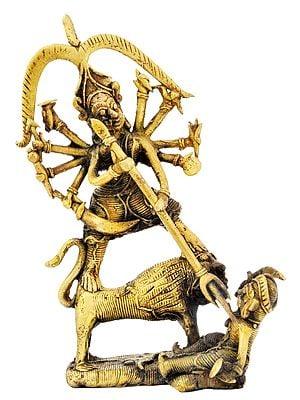 Mahishasura Mardini Goddess Durga (Tribal Statue)