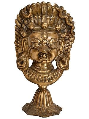 Mahakala Mask on Stand