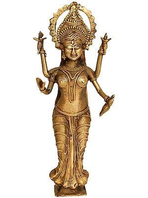 Goddess Lakshmi (Tribal Statue from  Bastar)