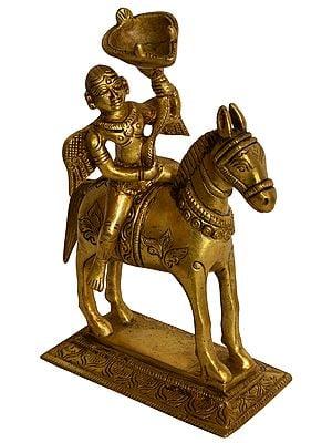 Angel Lady on Horse Ritual Lamp