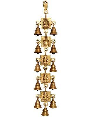 Lord Ganesha Wall Hanging Bells