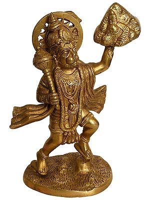 Lord Hanuman Lifting Sanjivani Mountain