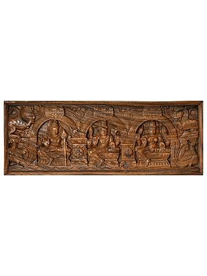 Lord Shiva Panel with Karttikeya and Goddess Parvati
