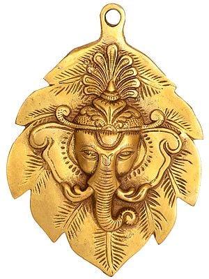 Pipal Ganesha Wall Hanging Mask